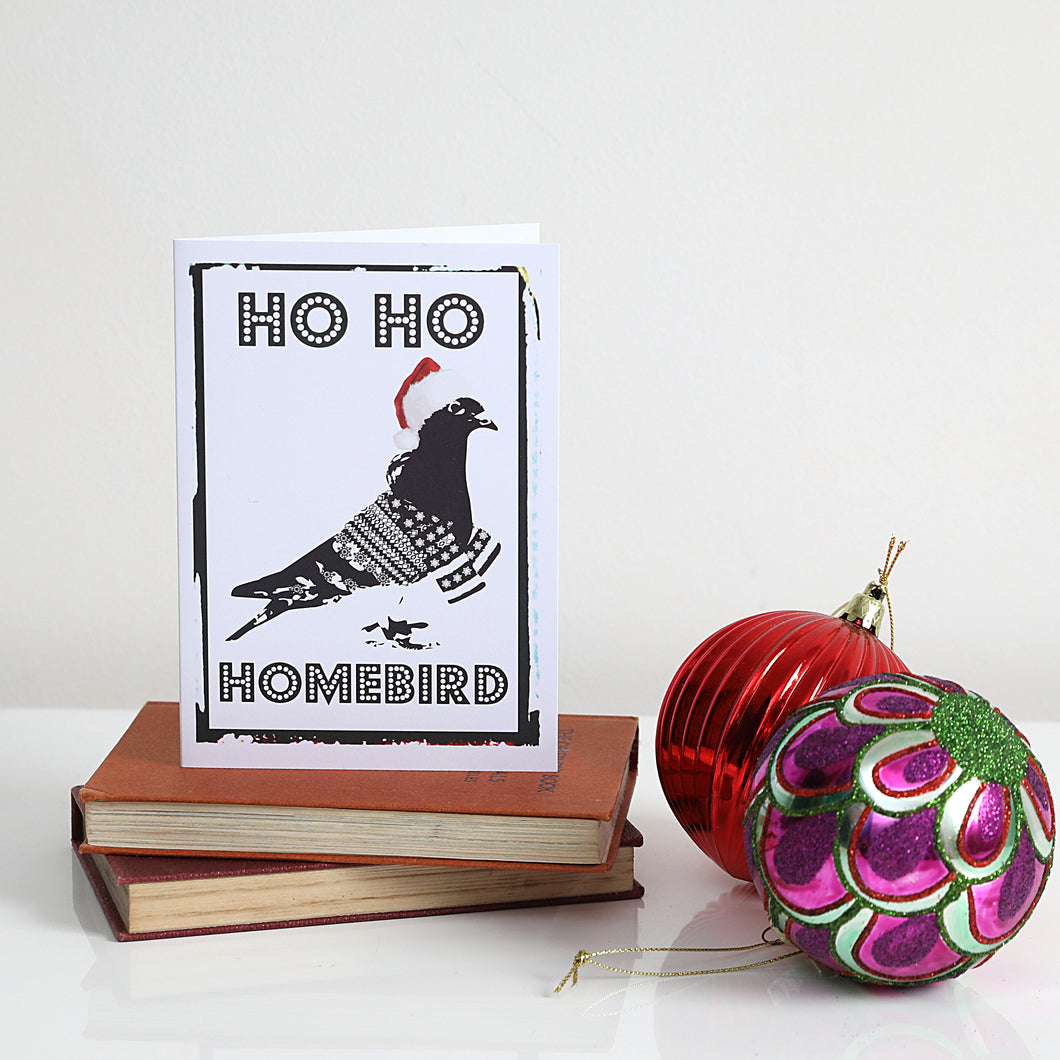Ho Ho Homebird Christmas Card