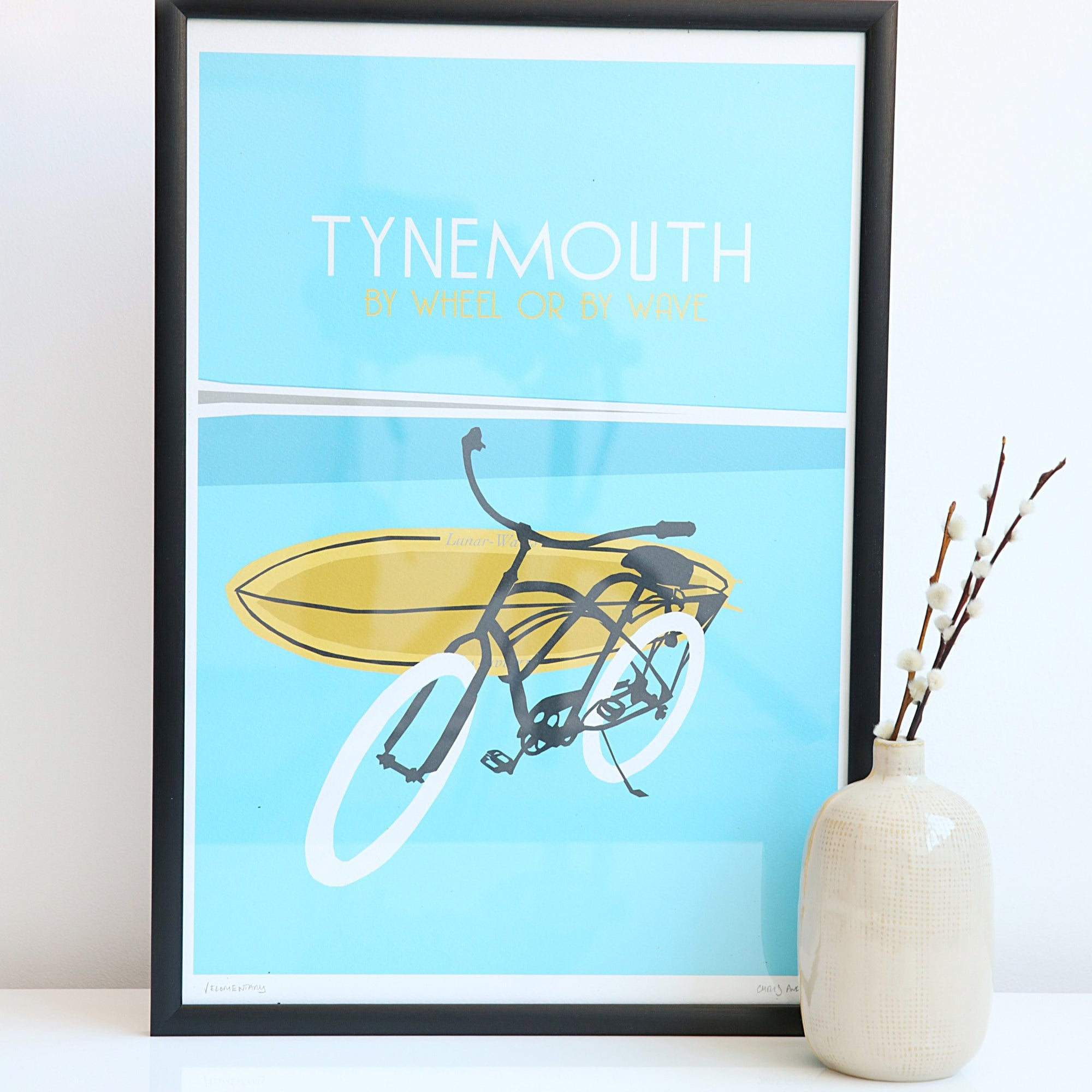 Tynemouth by wheel or wave unframed print