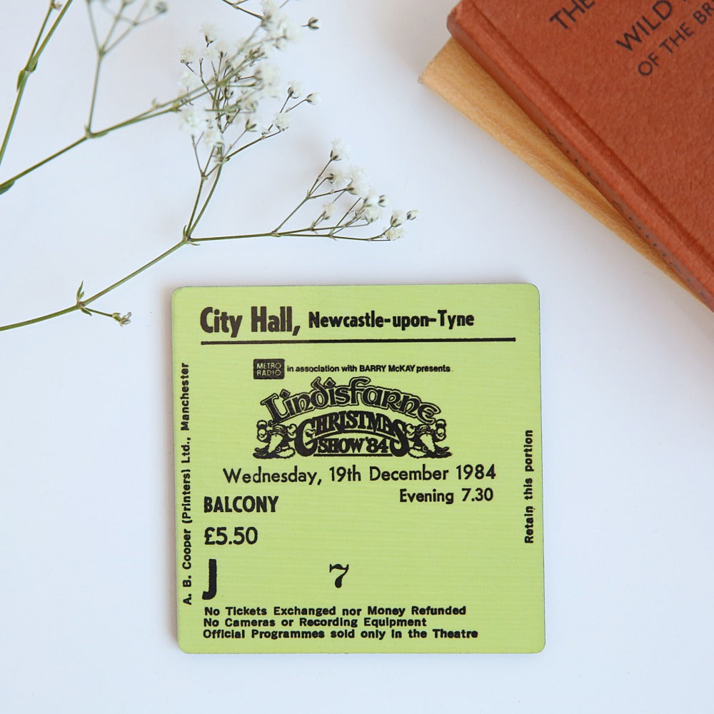 Lindisfarne Christmas Show City Hall Coaster