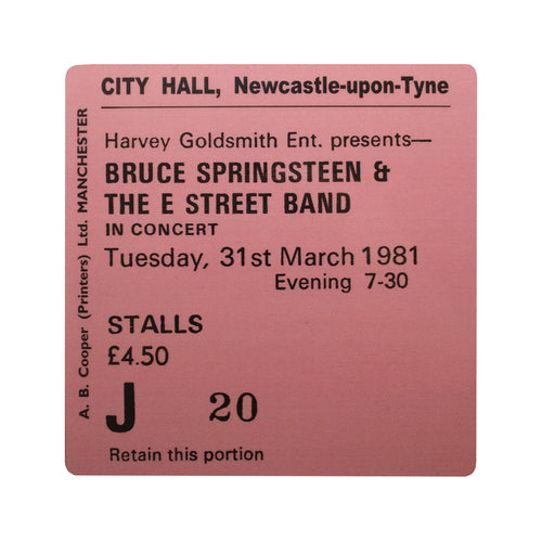 Bruce Springsteen City Hall Coaster