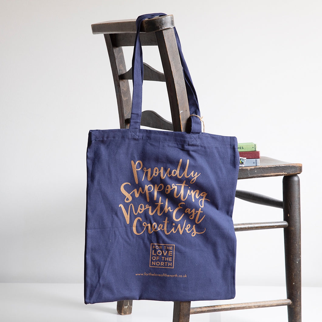 Proudly supporting North East creatives tote bag
