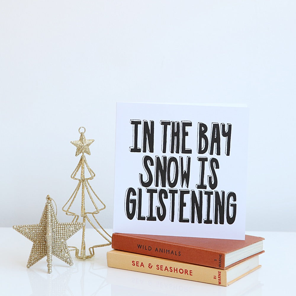 In the Bay Snow is Glistening Christmas card