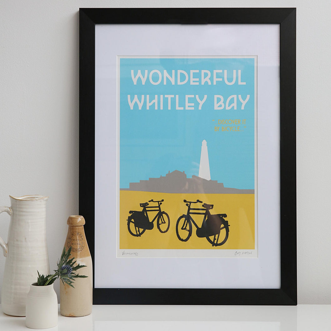 Wonderful Whitley Bay unframed print