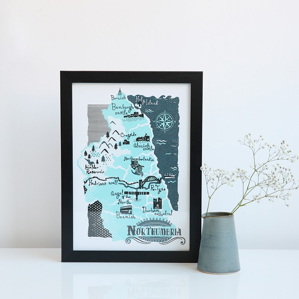Northumbria A4 & A3 unframed print
