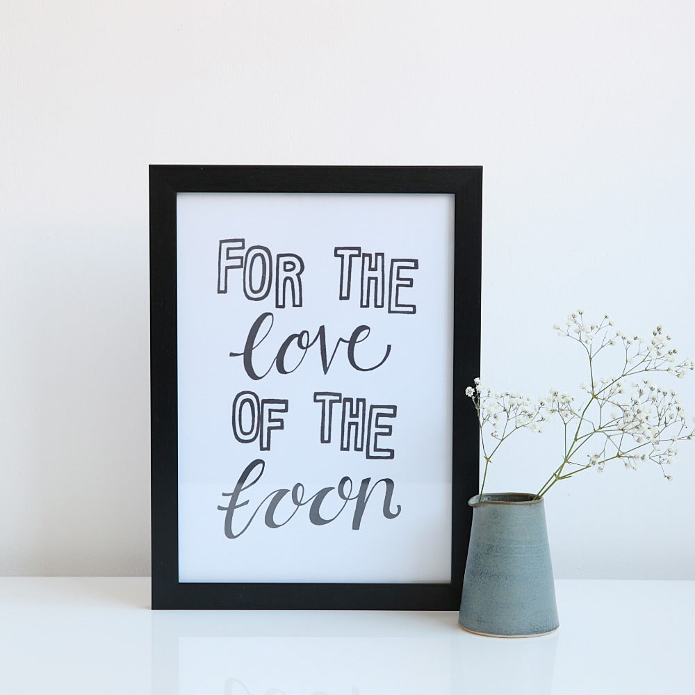 For the Love of the Toon A4 unframed print