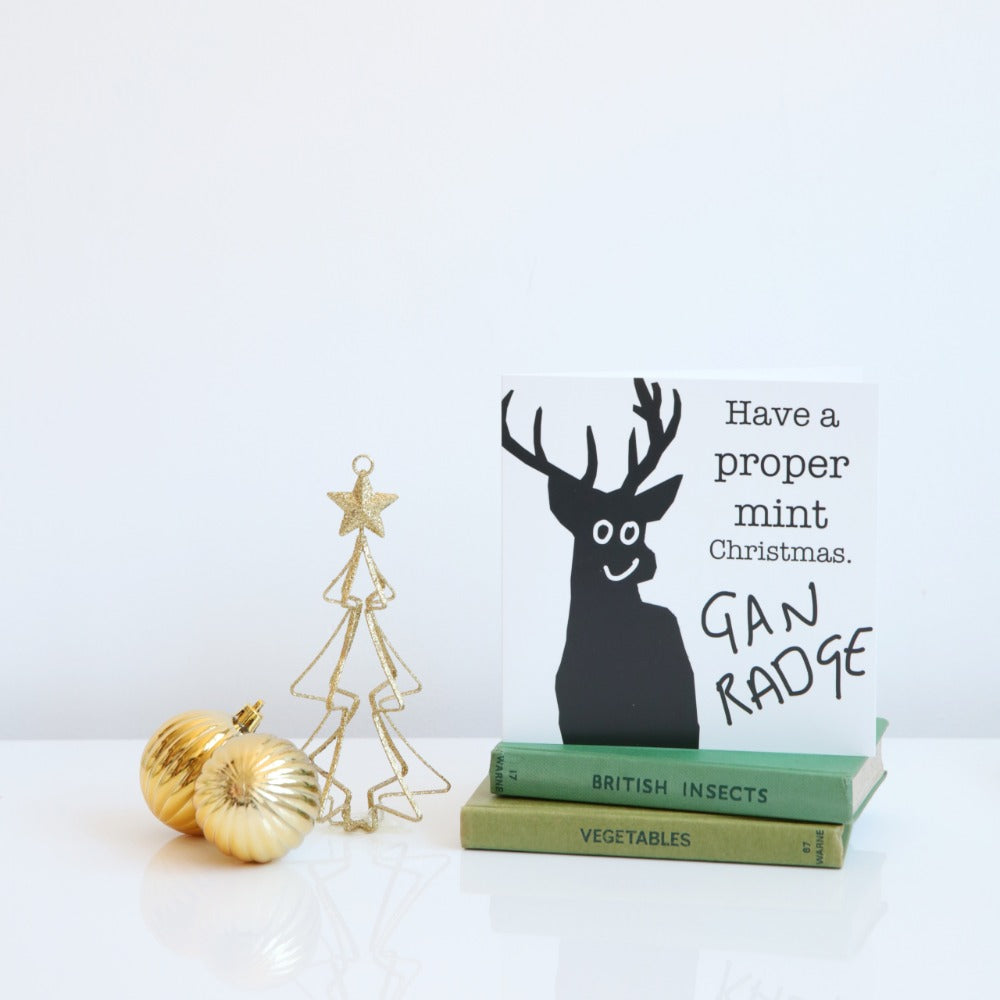 'Have a proper mint Christmas' card