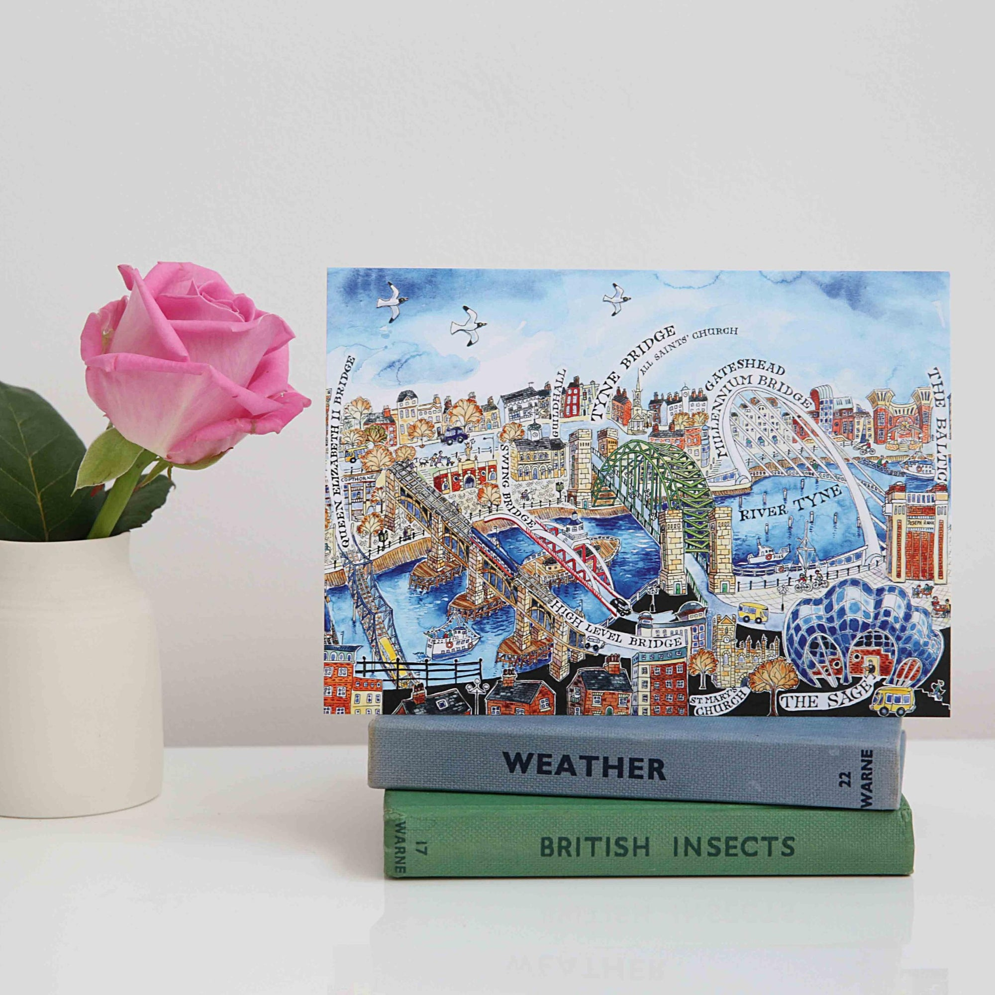Bridges over the Tyne - The Quayside, Newcastle card