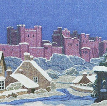 Load image into Gallery viewer, Bamburgh in Snow Christmas card