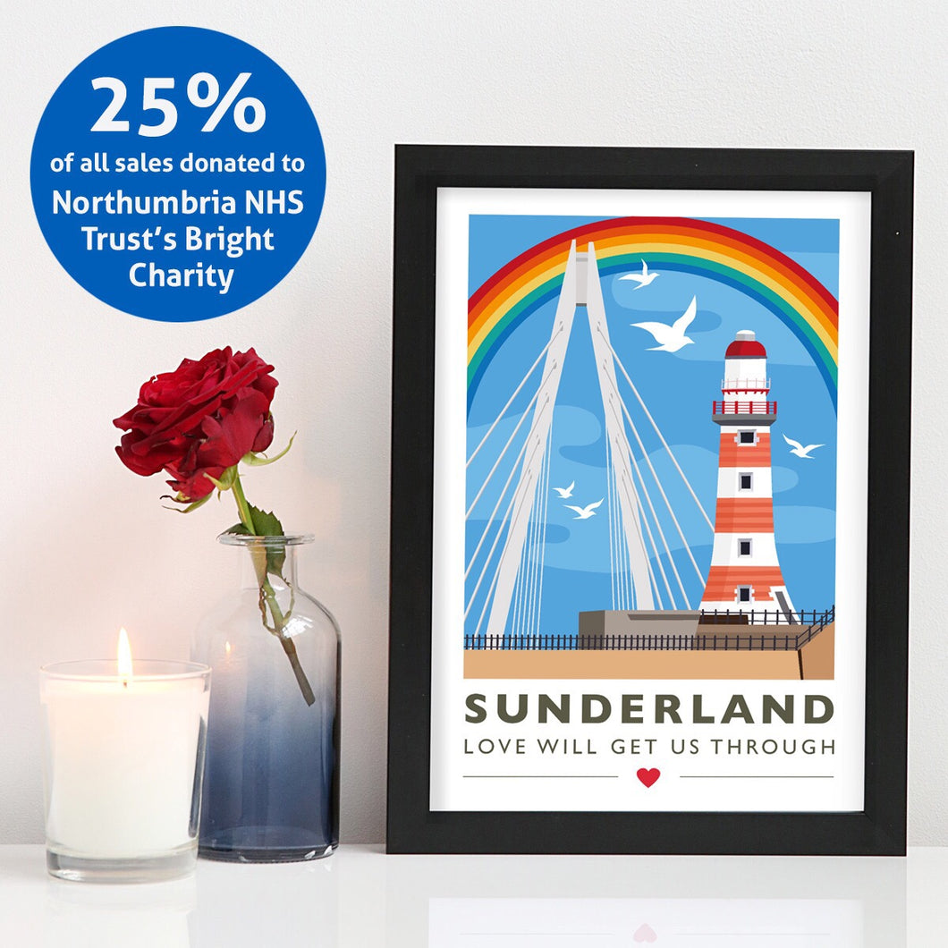 Sunderland 'Love will get us through' A4 unframed print