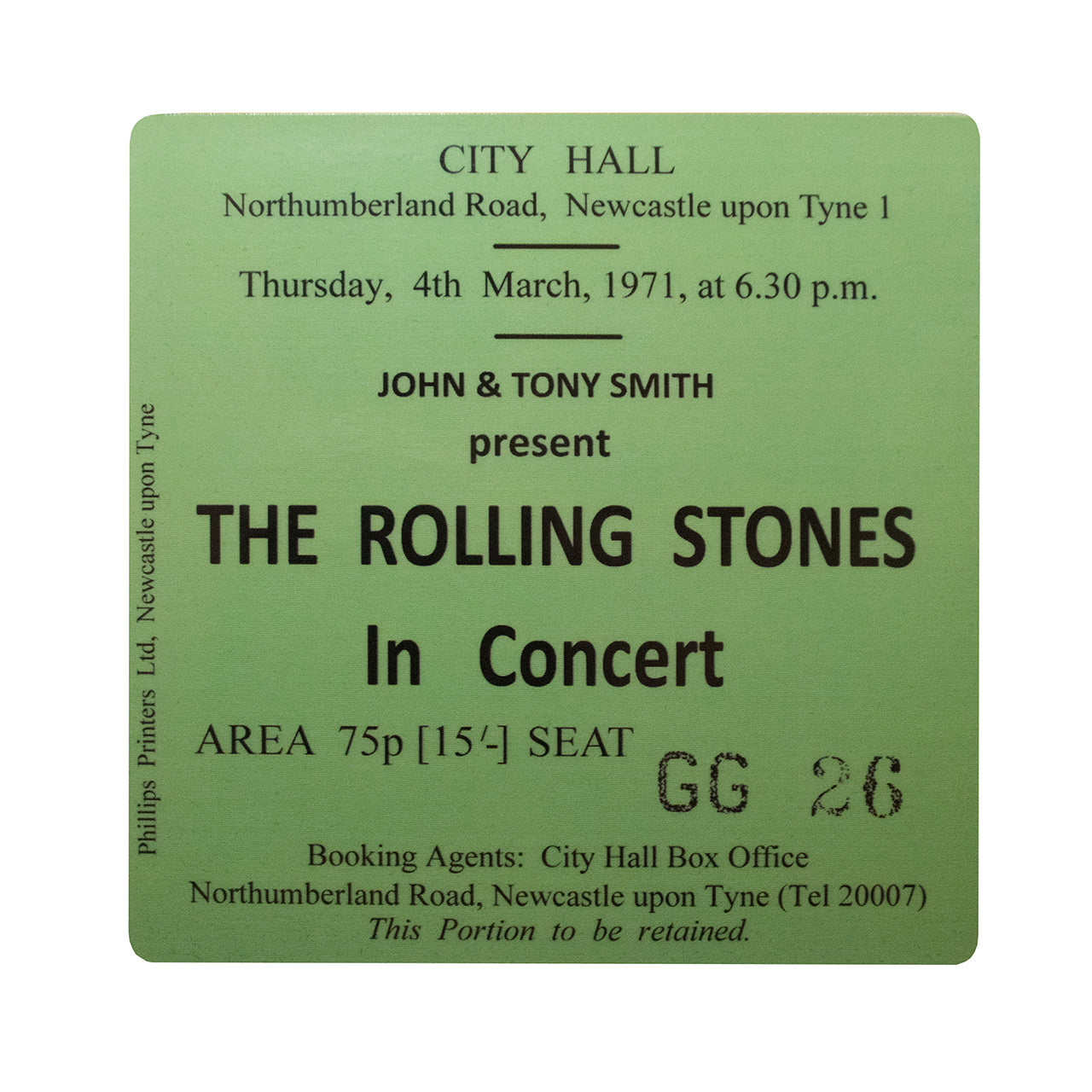 Rolling Stones City Hall Coaster