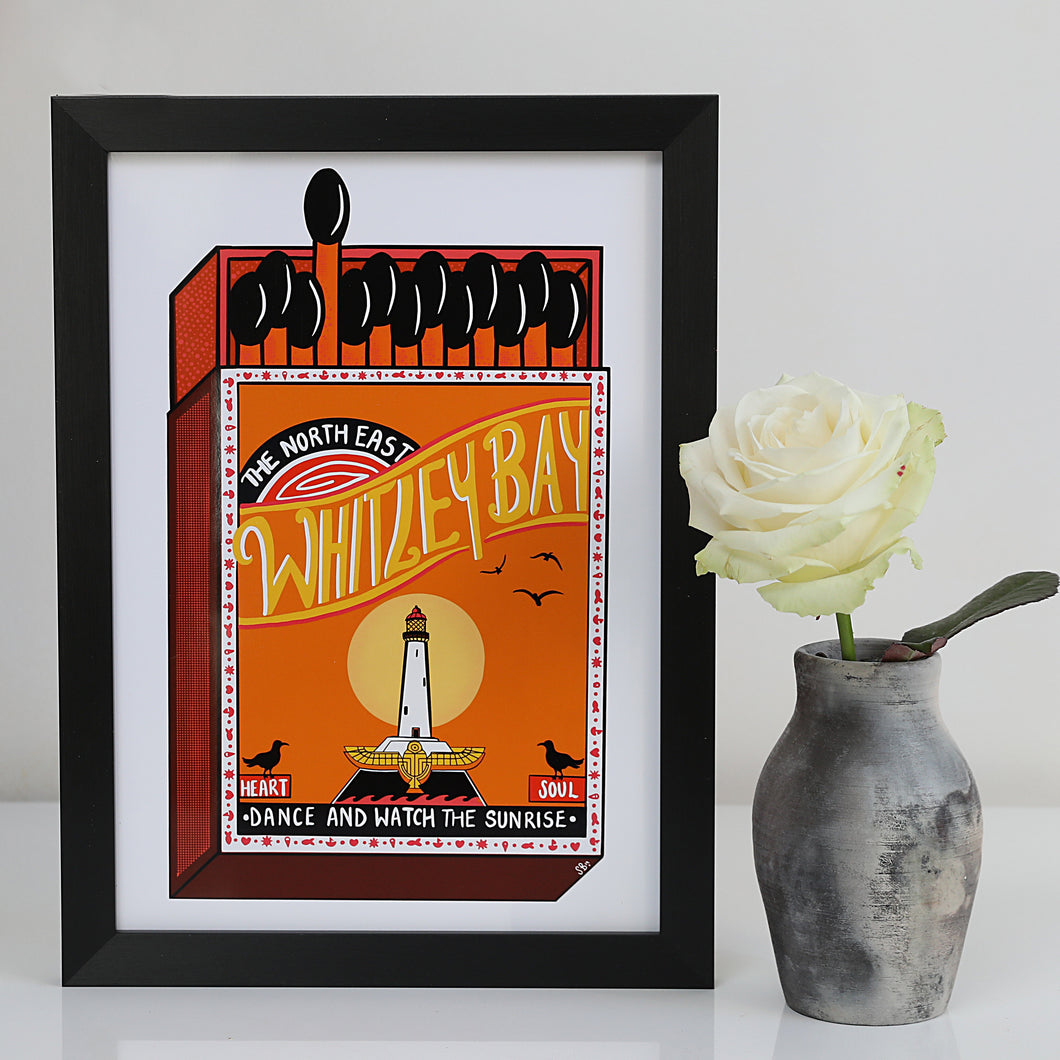 Whitley Bay Matchbox A4 unframed print