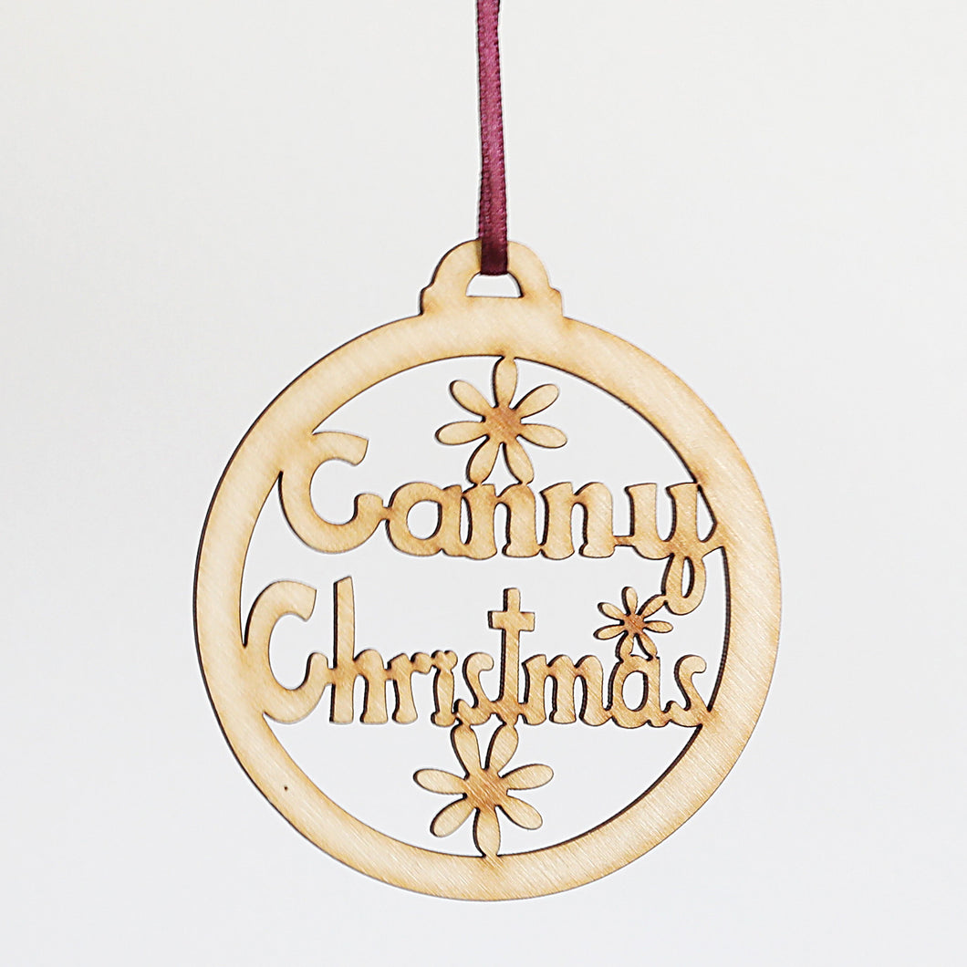 Canny Christmas wooden decoration