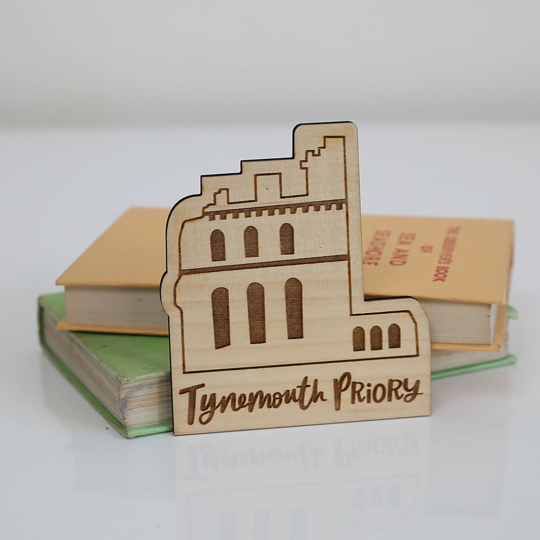 Tynemouth Priory Eco Friendly Wood Magnet
