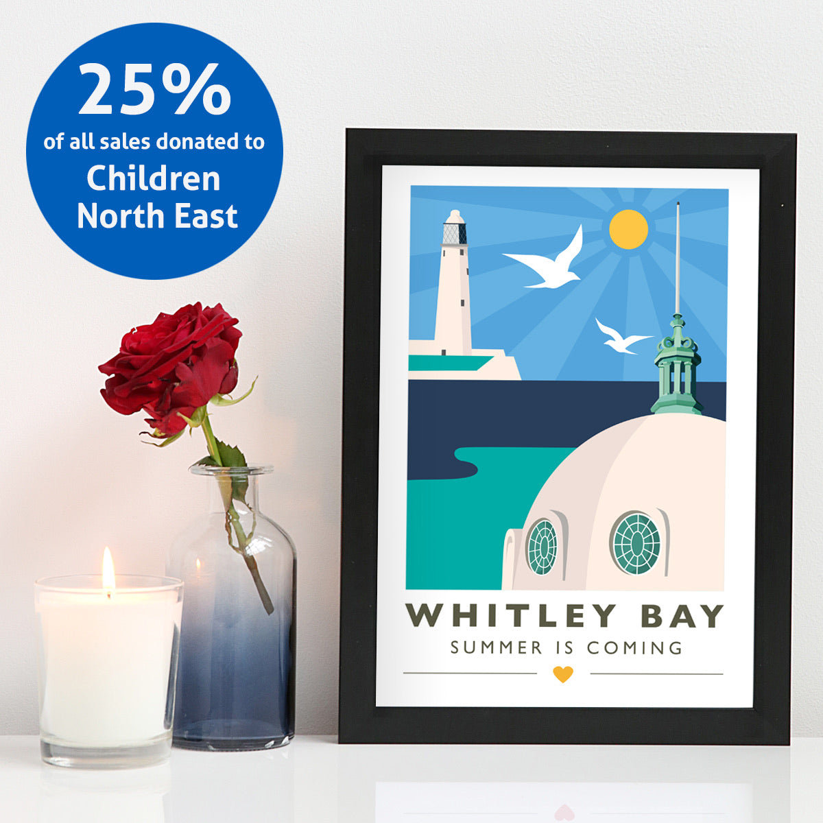 Summer is Coming - Whitley Bay A4 & A3 unframed print