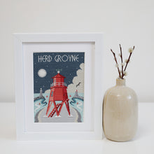 Load image into Gallery viewer, Herd Groyne, South Shields Cross Stitch Kit