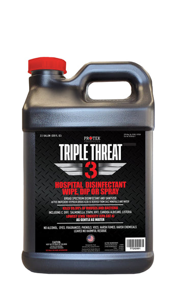 FILLED 2.5 Gallon TRIPLE THREAT Disinfectant