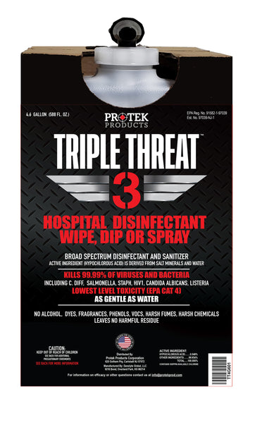 FILLED 4.6 Gallon TRIPLE THREAT Disinfectant