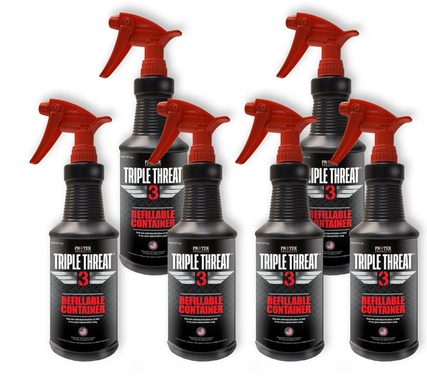 FILLED Quart Sprayers, 6 bottles of TRIPLE THREAT Disinfectant
