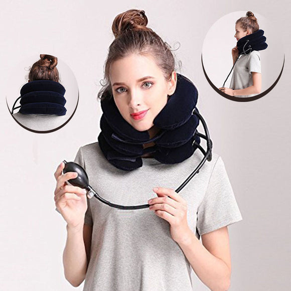 Inflatable Cervical Traction Pillow for Neck Pain Relief