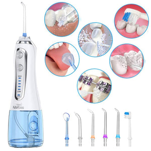 Oral Irrigator with 6 Tips 5 Modes Water Flosser 300ml