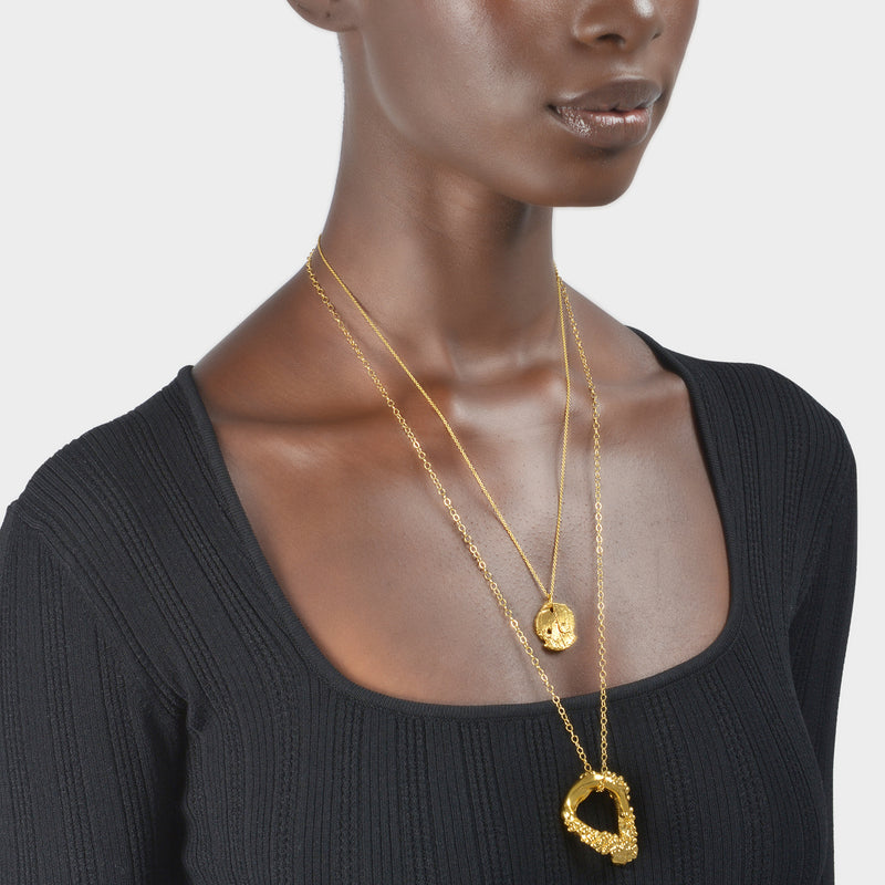 Collier The Forgotten Memory en Bronze Plaqué Or