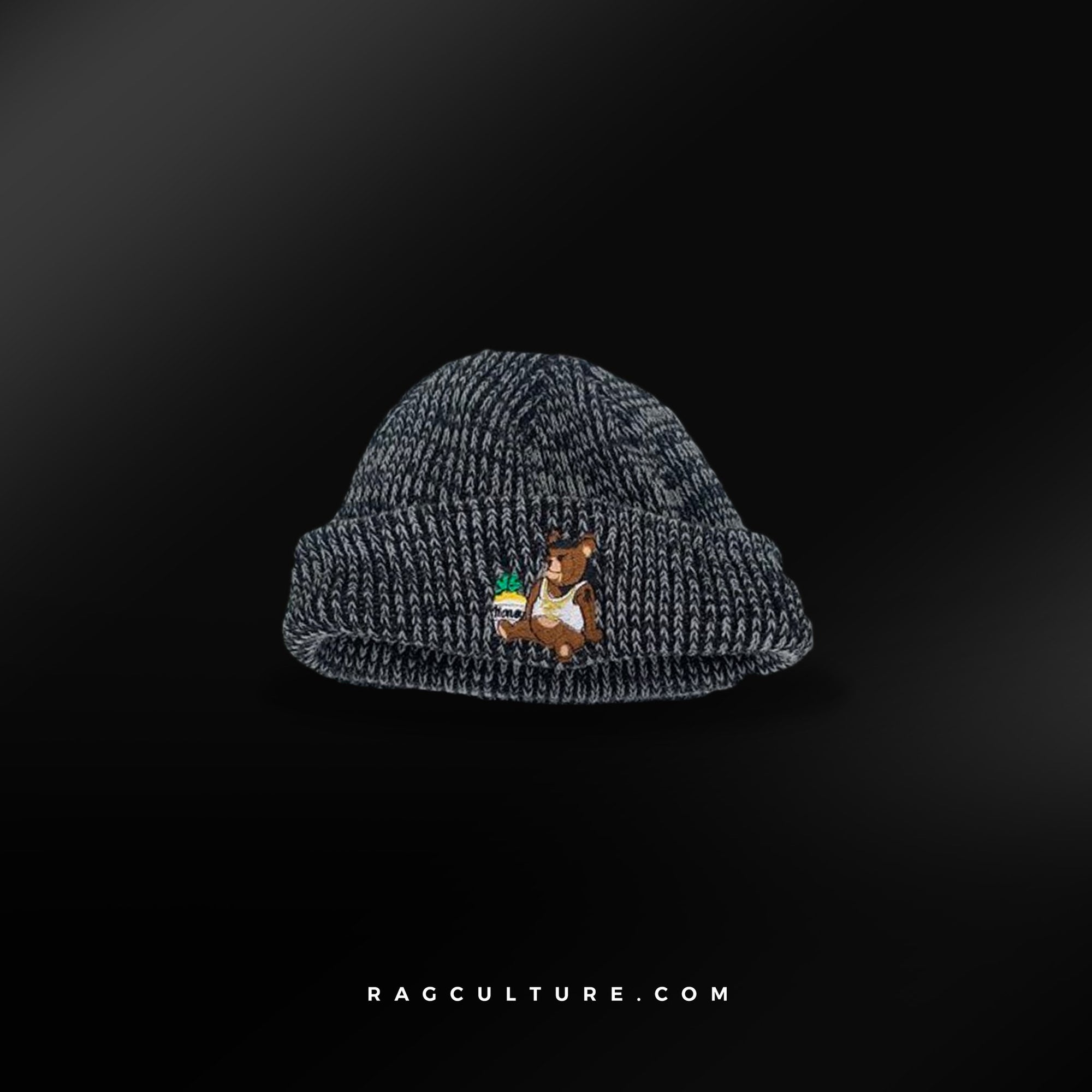 Black Satin Lined Beanie - RagCulture