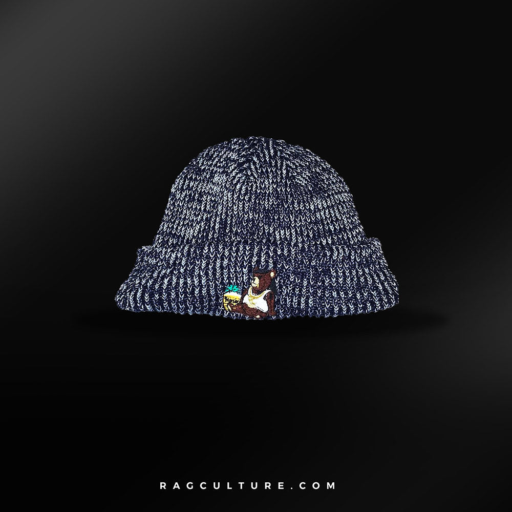 Blue Satin Lined Beanie - RagCulture