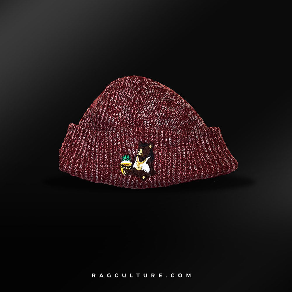Maroon Satin Lined Beanie - RagCulture