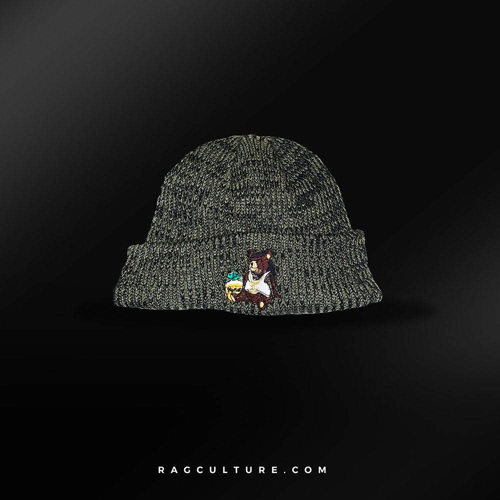 Green Satin Lined Beanie - RagCulture