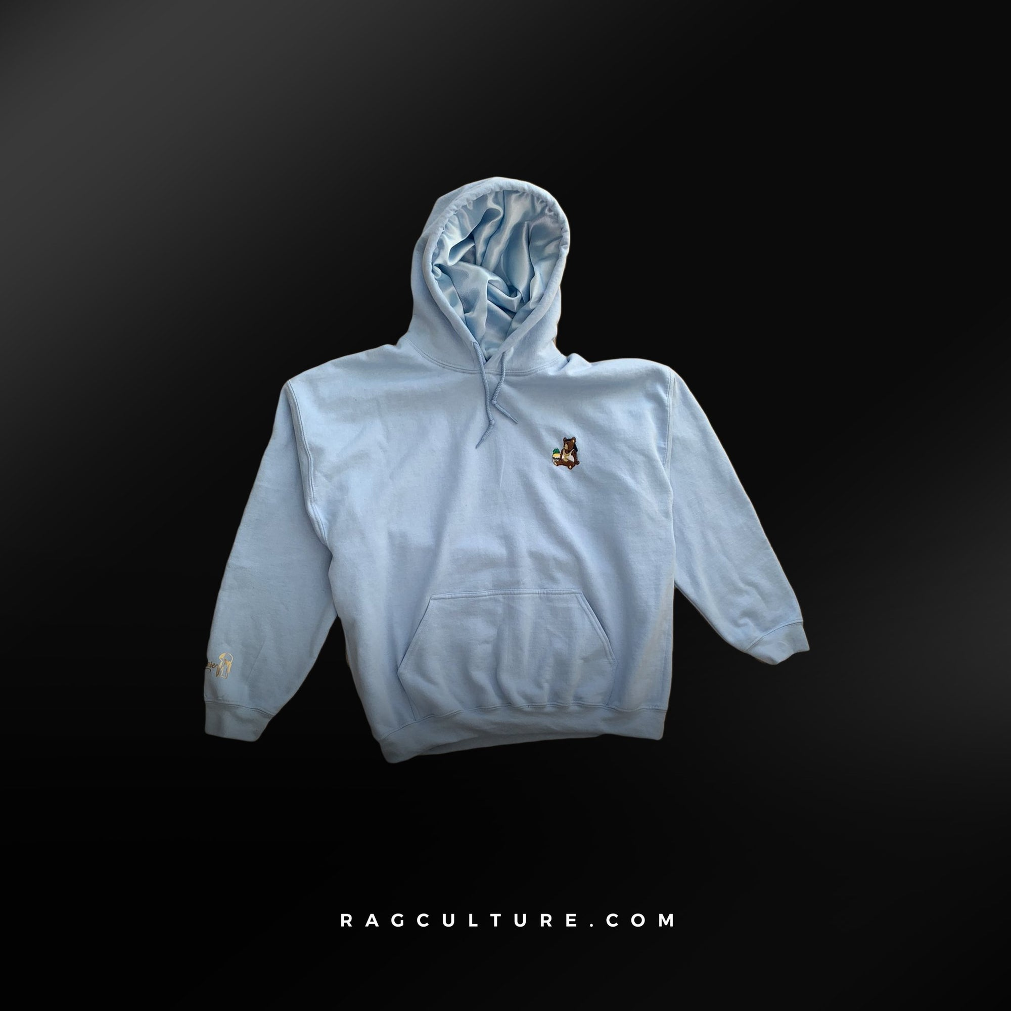 Light Blue Satin Lined Hoodie - RagCulture