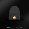 RC Bear Black Satin Lined Beanie - RagCulture