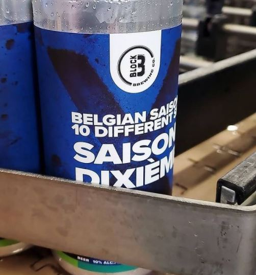 Saison dixième - Block Three Brewing Co.