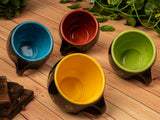 Black Color Round Shape Tea Cups