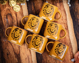 GOLDEN LION TEA CUPS