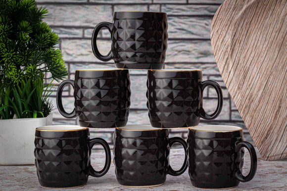 BLACK DIAMOND TEA CUPS