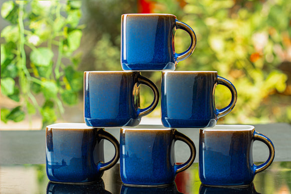 BLUE SQUARE TEA CUPS