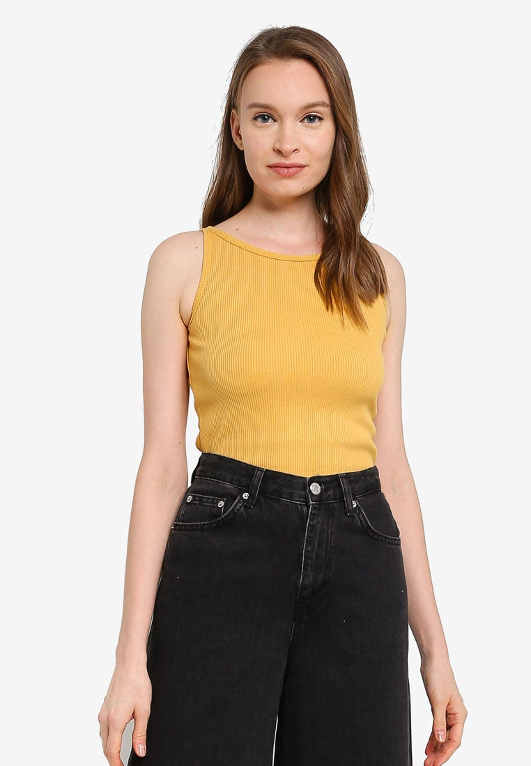 2 Pack Solid Ribbed Cropped Tank Top