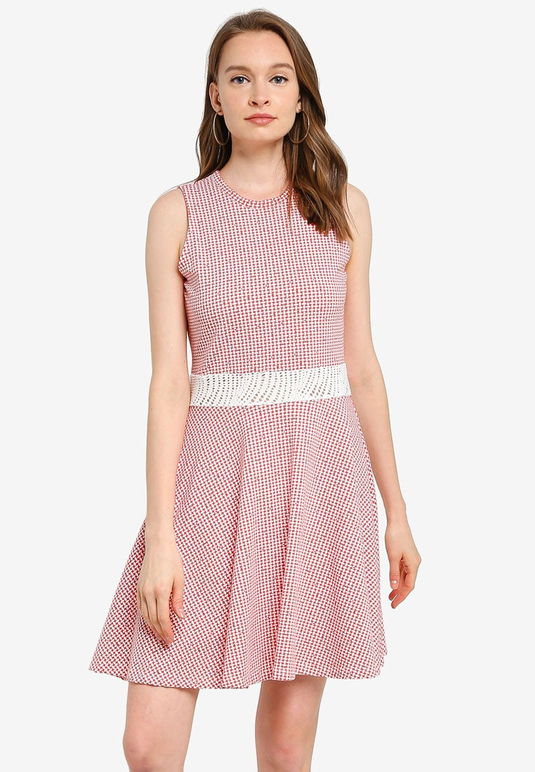 Open Waist Dress with Net Lace - UniqTee Tokyo Style