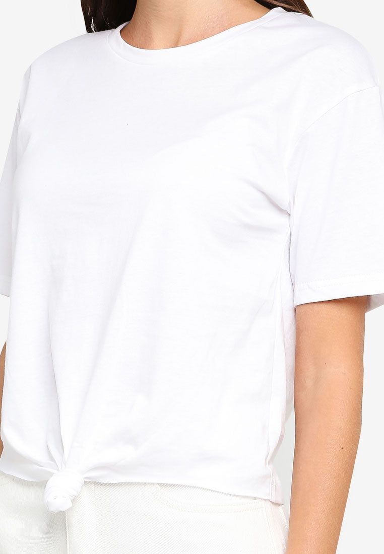 Front Knotted Tee - UniqTee Tokyo Style