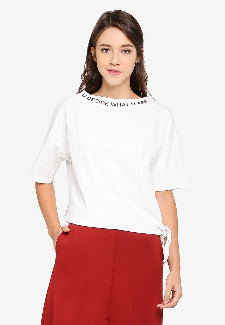 U Decide What U Are Cropped Top - UniqTee Tokyo Style