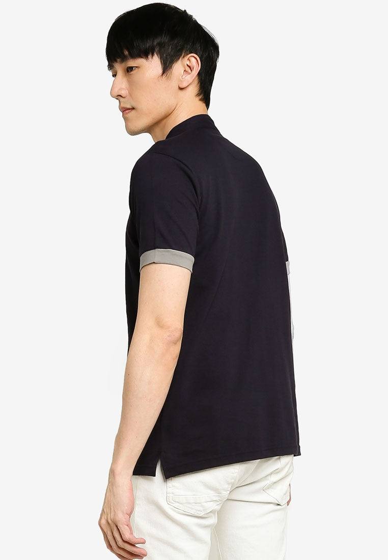 Textured Cotton Polo Shirt