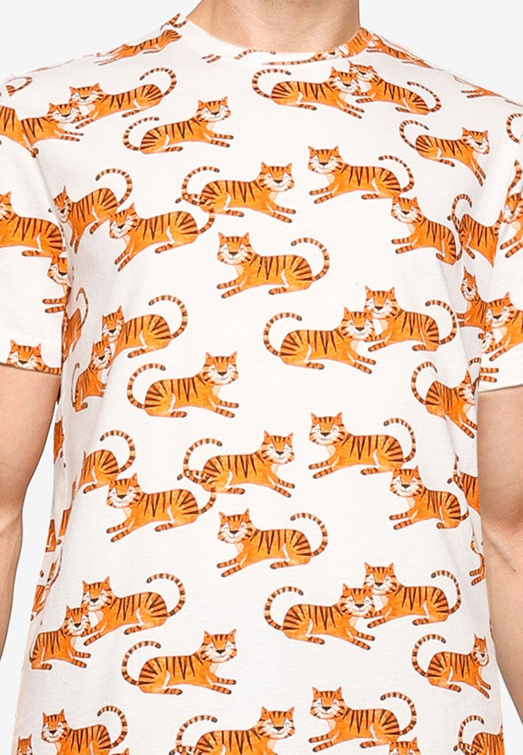 Summer Icon Tiger Printed Tee