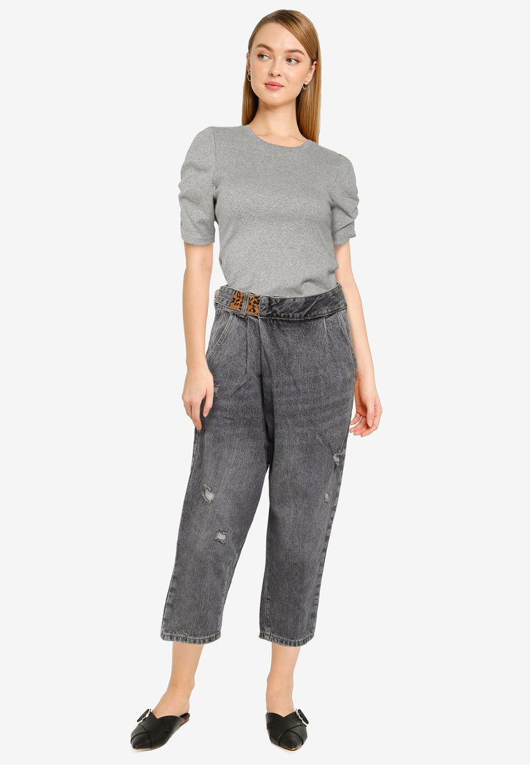 Belted Mom Jeans