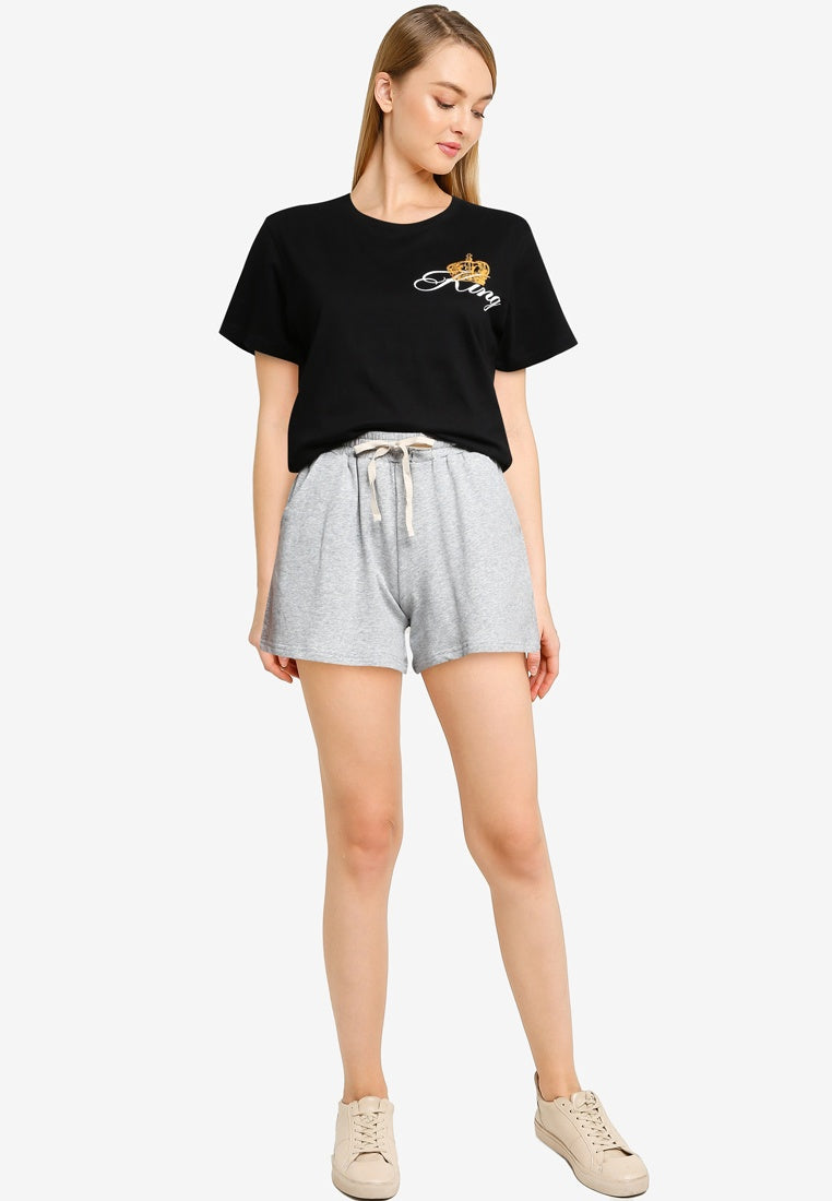 Cotton Shorts With Drawstring