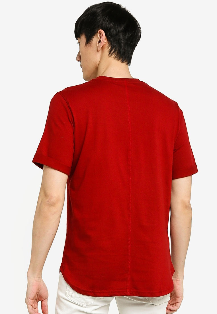 Solid Rolled Sleeve Tee