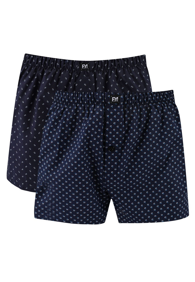 2 Pack Men's Boxers with Button