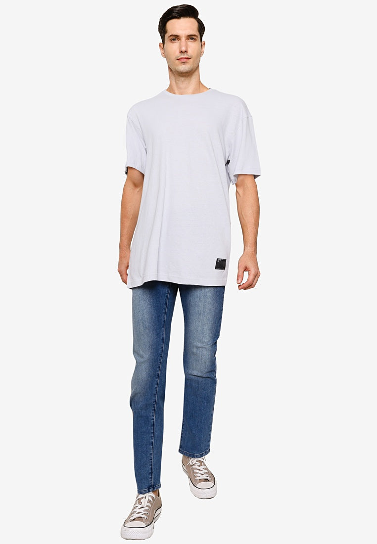 Premium Cotton Oversized Crew Neck Tee with Stitch Label