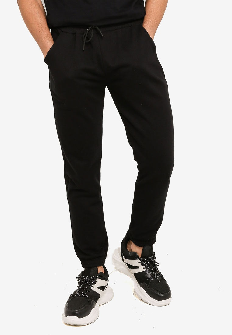 Solid Drawstring Sweatpants with Pockets - UniqTee Tokyo Style