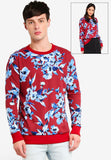 Flora Print Sweater - UniqTee Tokyo Style