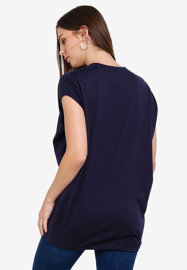 V Neck Bat Wing Top - UniqTee Tokyo Style